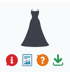 Wedding dress sign icon elegant bride symbol vector