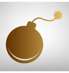 Bomb sign flat style icon vector