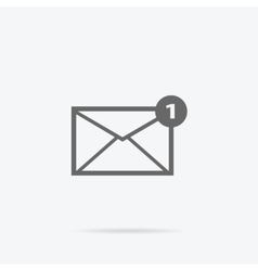 Envelope mail message design linear vector