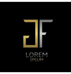 GF letters logo vector image