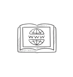 International education technology sketch icon vector