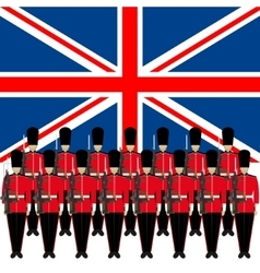 Soldiers guard of honour in england vector