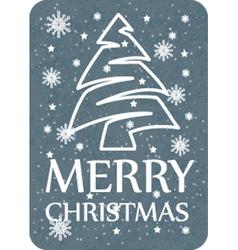 Christmas card grey vector