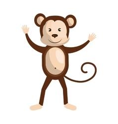 Circus monkey animal cartoon design vector image