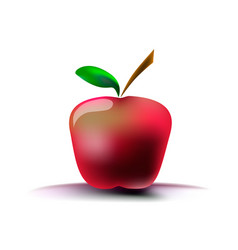 image of a red apple on a white background with a vector image