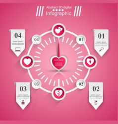 Love infographic heart icon speedometer icon vector