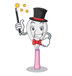 Magician whisk character cartoon style vector