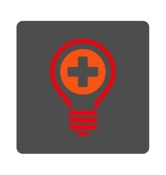 Medical bulb flat button vector