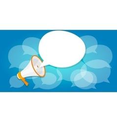 Megaphone announce speaker shout online public vector