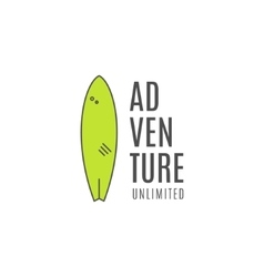 Minimalistic surfing logo concept summer vector