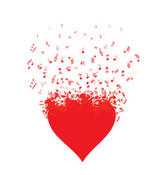 musical heart vector image