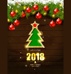 retro merry christmas poster template vector image vector image
