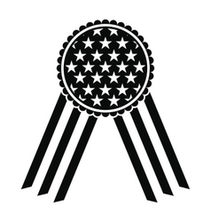 Ribbon rosette in the usa flag icon vector