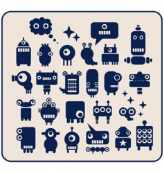 Robots monsters vector