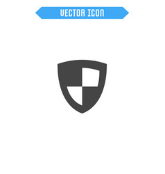shield icon flat protection icon vector image
