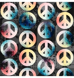 Symbols of pacific retro pattern vector