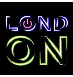 T shirt graphics london city vector
