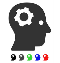 thinking gear flat icon vector image