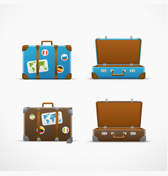 Travel bag set Vacation design template vector image vector image