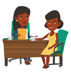 Two business women during meeting vector