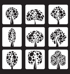 vector trees vector image vector image
