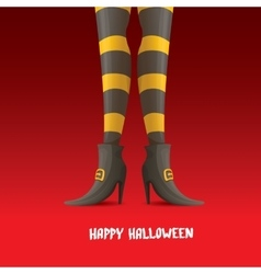 Witch legs halloween background vector
