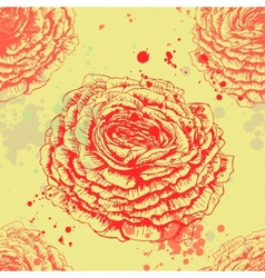 Seamless texture with roses vector