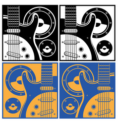 Electronic guitar and speaker systems vector