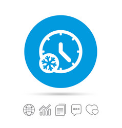 Winter time icon snowy day daylight saving vector