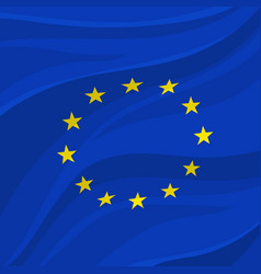 European union flag or banner of europe vector