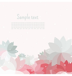 Postcard for text with gray pink white petal vector