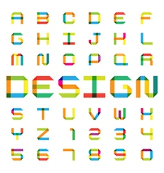 Colorful paper alphabet vector