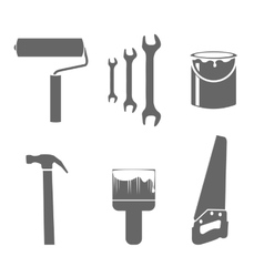 House remodel tools icons set vector image