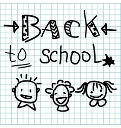 Back to school made on the cellular background vector
