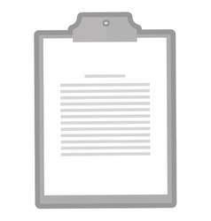 Clipboard with paper icon vector