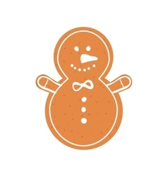 Cookie icon merry christmas design vector