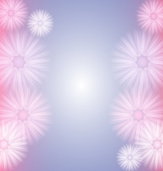 Background with abstract pastel flowers vector