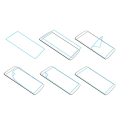 apply a screen protector on gadgets vector image vector image