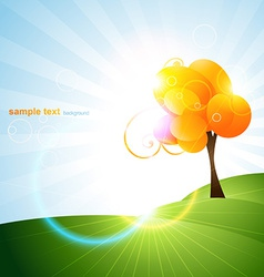 beautiful tree design vector image