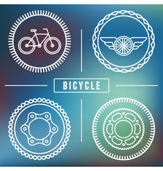 bike emblems vector image