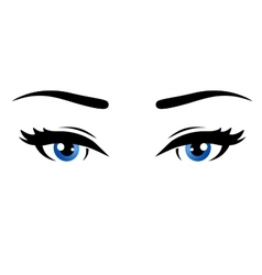 Blue woman eyes vector