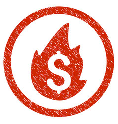 Business fire disaster rounded grainy icon vector
