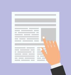 Businessman Reading Business Newspaper vector image