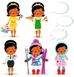 Cartoon people - set vector image vector image