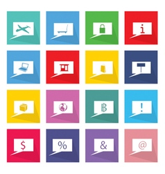 Collection of 16 business thought bubbles icons vector