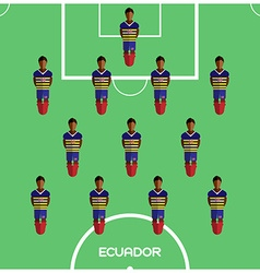 Computer game ecuador football club player vector