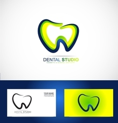 Dental dentist dentistry practice logo vector