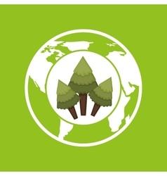 Environment globe concept icon graphic vector