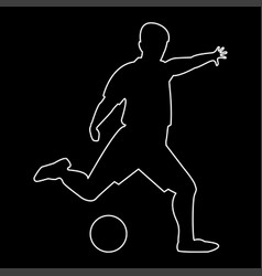 footballer the white path icon vector image