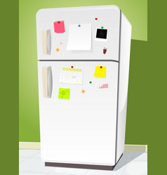Fridge with notes vector